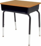 785 Series Hard Plastic Top Student Desk with Open Front Plastic Book Box [785M-VCO]
