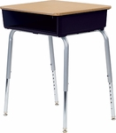 785 Series Laminate Top Student Desk with Open Front Plastic Book Box [785-VCO]
