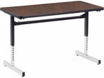 8700 Series Computer Laminate Table - 24''W x 48''D x 22''H - 30''H [872448-VCO]