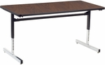 8700 Series Computer Laminate Table - 30''W x 60''D x 22''H - 30''H [873060-VCO]