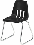 9000 Classic Series Sled Base Chair with 14''H Polypropylene Seat - 15''W x 15''D x 23.25''H [9614-VCO]