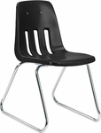 9000 Classic Series Sled Base Chair with 18''H Polypropylene Seat - 19.5''W x 21''D x 30.25''H [9618-VCO]