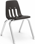 9000 Classic Series Stack Chair with 14''H Polypropylene Seat - 14.88''W x 17.25''D x 22.38''H [9014-VCO]
