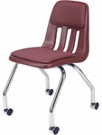 9000 Classic Series Upholstered Mobile Chair with 18''H Seat - 18.63''W x 21''D x 30''H [9050P-VCO]
