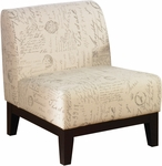 Ave Six Glen Armless Fabric Lounge Chair - Script [GLN51-S13-FS-OS]