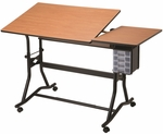 CraftMaster III Split-top Drafting, Drawing, and Art Table [CM60-3-WBR-FS-ALV]
