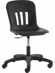 Quick Ship Metaphor Series Keyboarder Task Chair in Black Polypropylene with 15''-19.375'' Adjustable Seat Height and Black Base [N9TASK18-BLK01-BLK01-VCO]