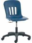 Quick Ship Metaphor Series Keyboarder Task Chair in Navy Polypropylene with 15''-19.375'' Adjustable Seat Height and Black Base [N9TASK18-BLU51-BLK01-VCO]