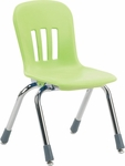 Metaphor Series Stack Chair with 12''H Polypropylene Seat - 13.38''W x 16.13''D x 22.88''H [N912-VCO]