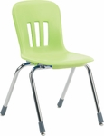 Metaphor Series Stack Chair with 16''H Polypropylene Seat - 18.38''W x 20.5''D x 28.25''H [N916-VCO]