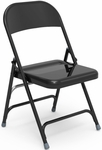 Multi-Purpose Steel Folding Chair with 2 Rear Leg Braces - 17.75''W x 18.62''D x 29.5''H [167-VCO]