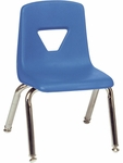 2000 Series Stack Chair with 12''H Seat with Chrome Frame - Blueberry - 13.5''W x 14''D x 21.62''H [2012-BLU40-CHRM-VCO]