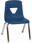 2000 Series Stack Chair with 12''H Seat Height in Navy [2012-BLU51-CHRM-VCO]