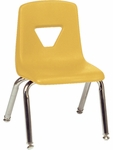 2000 Series Stack Chair with 12''H Seat Height in Yellow [2012-YLW47-CHRM-VCO]