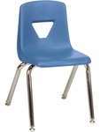 2000 Series Stack Chair with 14''H Seat with Chrome Frame - Blueberry - 13.63''W x 16.5''D x 23.62''H [2014-BLU40-CHRM-VCO]