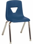 2000 Series Stack Chair with 14''H Seat Height in Navy [2014-BLU51-CHRM-VCO]