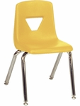 2000 Series Stack Chair with 14''H Seat Height in Yellow [2014-YLW47-CHRM-VCO]