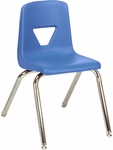 2000 Series Stack Chair with 16''H Seat with Chrome Frame - Blueberry - 16.88''W x 20''D x 27''H [2016-BLU40-CHRM-VCO]