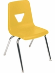 2000 Series Stack Chair with 16''H Seat Height in Yellow and Chrome [2016-YLW47-CHRM-VCO]