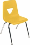 2000 Series Stack Chair with 16''H Seat with Chrome Frame - Yellow - 16.88''W x 20''D x 27''H [2016-YLW47-CHRM-VCO]