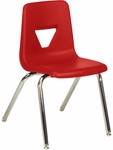 2000 Series Stack Chair with 18''H Seat Height in Red and Chrome [2018-RED70-CHRM-VCO]