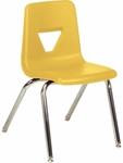 2000 Series Stack Chair with 18''H Seat with Chrome Frame - Yellow - 18.75''W x 20''D x 30''H [2018-YLW47-CHRM-VCO]
