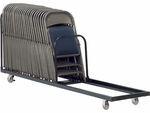 42 Capacity Single Tier Upright Chair Cart [HCT8-VCO]