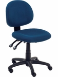 4300 Series Administrative Task Chair with Confetti Navy Fabric and Black Base [4301-BLU214-BLK01-VCO]