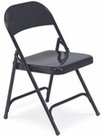 Quick Ship Multi-Purpose Folding Chair in Char Black Finish [162-BLK01-VCO]