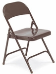 Quick Ship Multi-Purpose Folding Chair in Mocha Finish [162-BRN16-VCO]