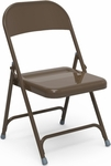 Quick Ship Multi-Purpose Steel Folding Chair with Mocha Finish - 17.75''W x 18.62''D x 29.5''H [162-BRN16-VCO]