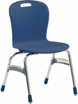 Quick Ship Sage Series Stack Chair with 18''H Polypropylene Seat and Chrome Frame - Navy - 20.38''W x 32.5''H [SG418-BLU51-CHRM-VCO]