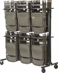 Two Tier Folding Chair Storage Rack [HCT6072-VCO]