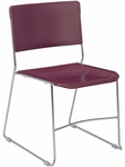 Ultra stack Multi-Purpose Stack Chair in Wine Seat and Chrome Frame [4100-RED50-CHRM-VCO]