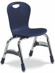 Quick Ship ZUMA Series Chair with 13'' Seat Height with Navy Polypropylene Seat and Chrome Frame [ZU413QS-BLU51-CHRM-VCO]