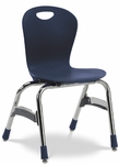 Quick Ship ZUMA Series Chair with 15'' Seat Height with Navy Polypropylene Seat and Chrome Frame [ZU415QS-BLU51-CHRM-VCO]