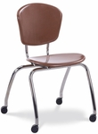 Civitas Series 18''H Mobile ZUMAfrd Chair [CZ18FRWC-VCO]