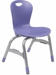 ZUMA Series Chair with 13''H Polypropylene Seat - 15.38''W x 14.87''D x 23.25''H [ZU413-VCO]