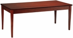 Luminary 72'' W x 36'' D x 29'' H Table Desk - Cherry on Cherry Veneer [LTD72C-FS-MAY]