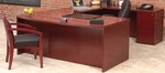 Luminary Simple Bow Front Desk Suite - Cherry [EU3C-FS-MAY]