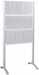 Luxe™ 31.75'' W x 20'' D x 62.75'' H Nine Pocket Magazine Floor Rack - Silver [4135SL-FS-SAF]