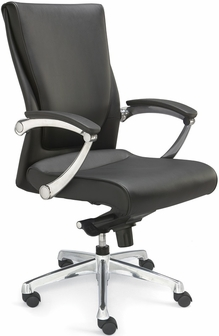 Luxo Conference Chair With Leathersoft Upholstery Black