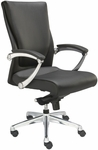 Luxo Conference Chair with LeatherSoft Upholstery - Black [LX4700-BLACK-FS-VALO]