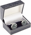 Luxury Handcrafted Cufflinks - Genuine Alligator - Grey