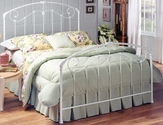 Maddie Metal Victorian Styled Bed Set with Rails - Full - Glossy White
