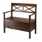 Madelyn High Back Bench with 2 Drawers [94438-FS-WWT]