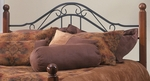 Madison Solid Wood Post and Metal Headboard with Rails - Full or Queen - Textured Black [1010HFQR-FS-HILL]