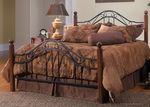 Madison Solid Wood Post and Metal Bed Set with Rails - Full - Textured Black [1010BFR-FS-HILL]