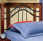 Madison Solid Wood Post and Metal Headboard with Rails - Twin - Textured Black [1010HTWR-FS-HILL]