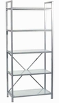 Madrid 5-Shelf Unit in Aluminum [23556BB-23556AA-FS-ERS]